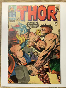 The-Mighty-Thor-126-Silver-Age-Marvel-Comic-Book-1st-Thor-Title-VG