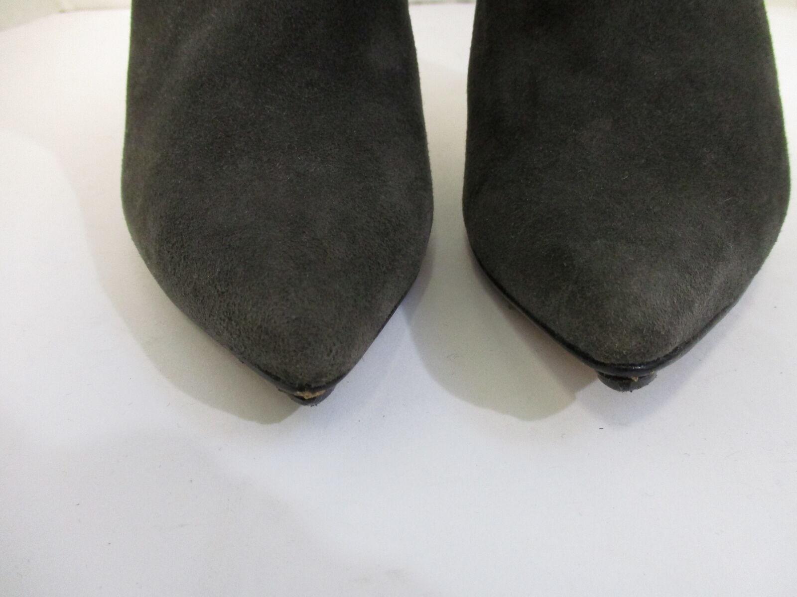 LA FENICE Grau suede pointed toe slim knee- high slim toe heel Stiefel sz 7 1/2 f29d95