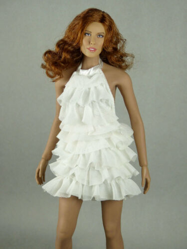 White Color Neck Strap Layered Party Dress Kumik 1//6 Phicen Cy Hot Toys VG