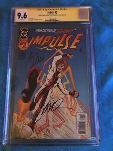 Impulse-1-DC-CGC-SS-9-6-NM-Signed-by-Mark-Waid-Humberto-Ramos