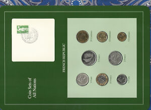 Coin-Sets-of-All-Nations-France-French-1961-1990-UNC-2-Francs-1983-1-Franc-1961