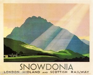 Snowdonia London Great Britain Vintage Travel Advertisement Poster Picture Print