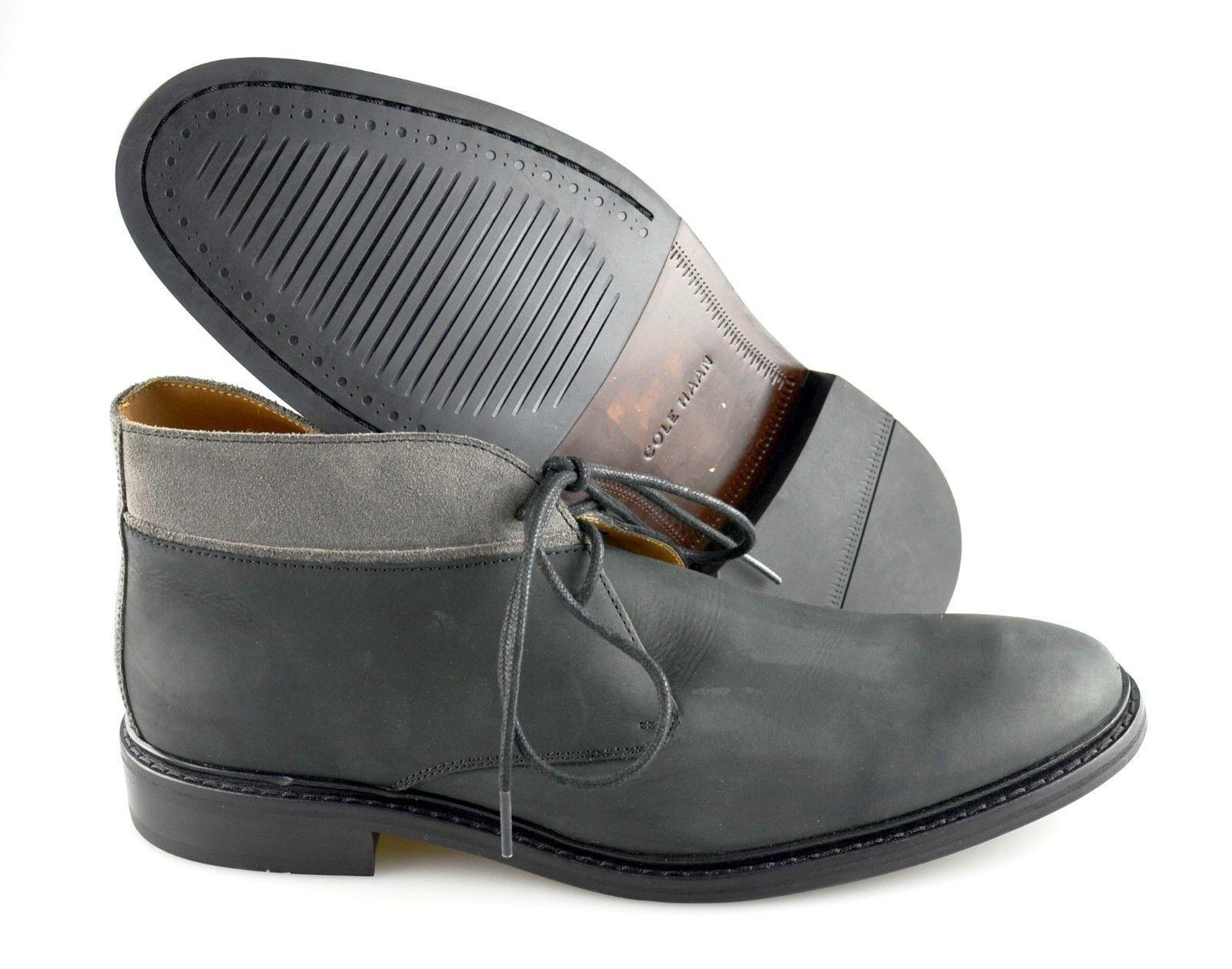 Para Hombres Cole Haan 'Colton' Cuero gris Llano Toe Chukka botas Talla EE. UU. 11-D