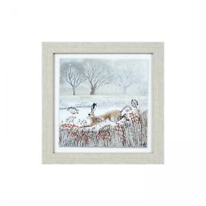 Leaping-Hare-Framed-Print-by-Lucy-Grossmith