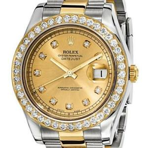 dc0dc85da44 Certified Pre-Owned Rolex DateJust II 18k Gold Diamond Bezel Men s ...