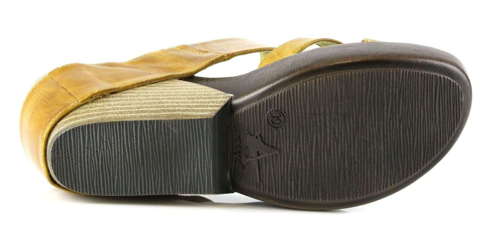 Antelope 912 Lime Leather Wedge Mule Sandals Sandals Sandals 8810 Taille 39 EU NEW 859097