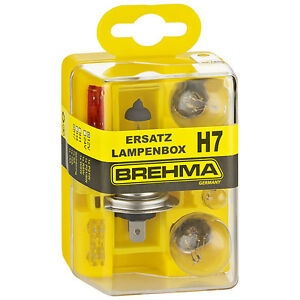 BREHMA H7 Ersatzlampenkasten Ersatzlampenbox Ersatzlampenset 12V 8teilig