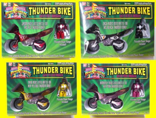 Power Rangers Thunder 4 Bike Set Jason Zach Trini Kimberly Bandai 1994 morphin