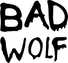 WARNING Doctor Who Bad Wolf Vinyl window car truck sticker decal funny JDM jeep