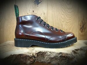 d908493e9f7 Details about SOLOVAIR // Mens Handmde in England Burgundy Monkey Boots //  NEW!!!