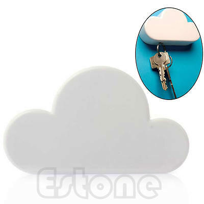 White Cloud Shaped Magnetic Key Holder Wall Hook Hanger Gift Home
