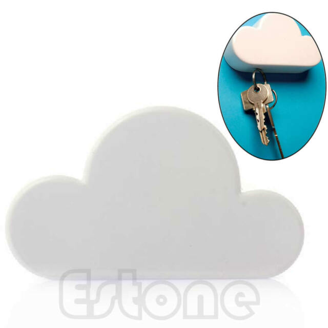 White Cloud Shaped Magnetic Key Holder Wall Hook Hanger Gift Home