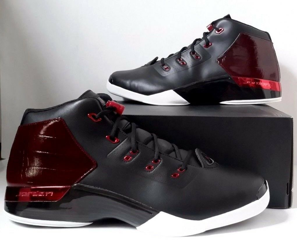 New Nike Air Jordan 17 + XVII Retro Black Gym Red Bulls Bred SZ 17 (832816-001)