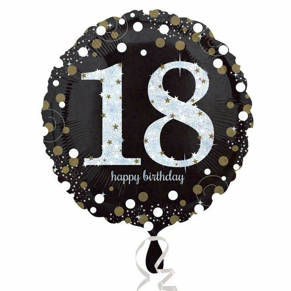 Gold 18th Birthday Balloon Foil 18 Inch Large Happy Silver Girls Boys Amscan