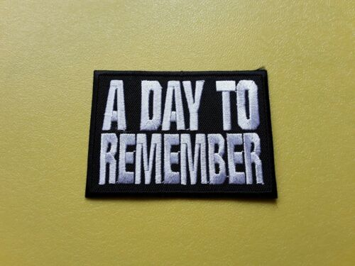 POP ROCK METAL MUSIC SEW ON /& IRON ON PATCH:- A DAY TO REMEMBER ADTR PUNK