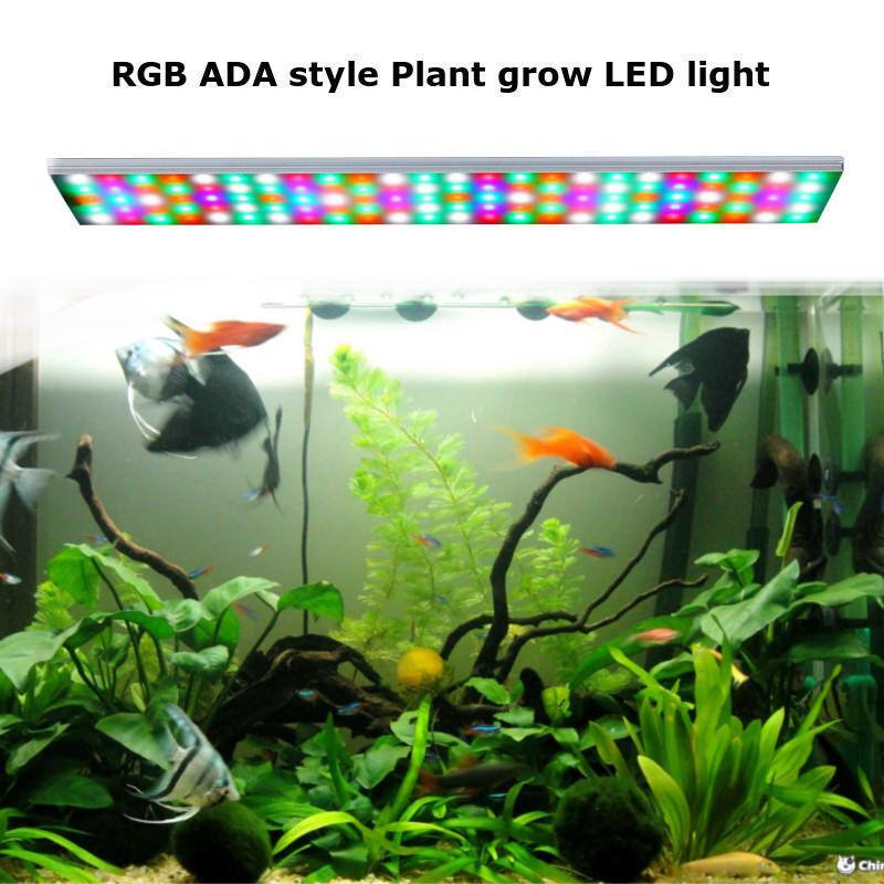 RGB 30-80cm LED Aquarium Fish Tank Plant Light Lamp 110V-220V   Full Spectrum