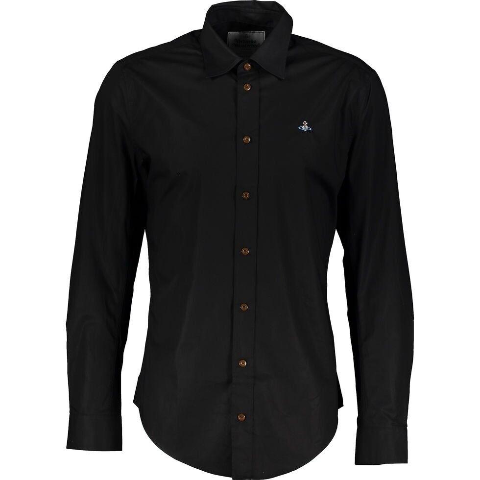 100% Autentico Vivienne Westwood Nero Elasticizzato Classica Camicia Camicia Camicia Taglia 48 M 065862