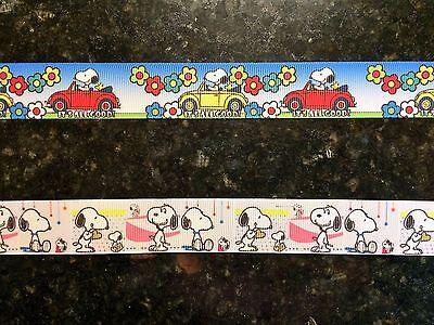 "Snoopy Halloween1.5/"" wide high quality grosgrain ribbon 5 yards listing"