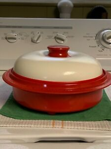 Details About Range Mate Microwave Grill Pan As Seen On Tv Red White In Steamer Inserts