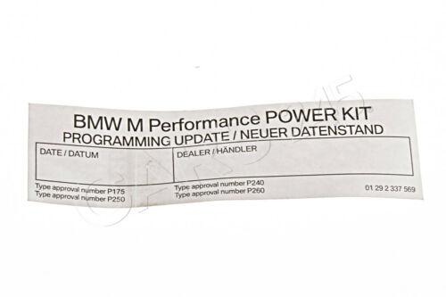 Genuine BMW F10N F11N F15 Engine ECU Stick On Sticker Label OEM 01292337569