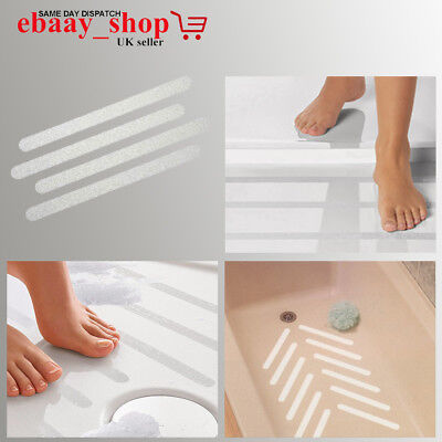 12 x Non Slip Bath Tub Treads Stickers Bathroom Floor Grip UK STOCK FREE P /& P