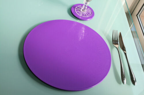 Intech gecko 8+8 set Rainbow colours Dishwasher safe place mats and coasters