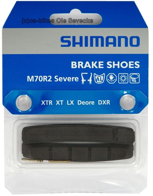 Shimano® M70R2 Bremsgummis für MTB-Cartridges XTR,XT,LX,DEORE etc. (1Paar)