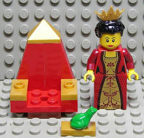 LEGO Cavalieri-Regina con trono e rana Merce Nuova
