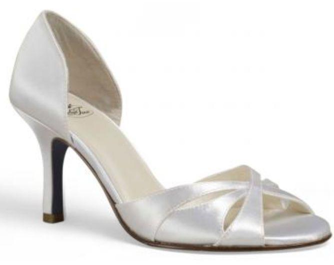125 Blau TUX Ella Peep Toe Pumps Heels  Dyeable  Weiß Satin  Dyeable Größe 11 NEW e2d082