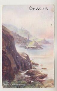 Devon postcard - Ilfracombe from Hillsborough - Aquarette - P/U 1905 (A2892)