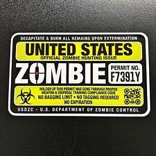 Hunting Permit Zombie Sticker
