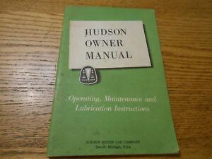 1952 HUDSON OWNER MANUAL w. foldout WIRING DIAGRAMS ...