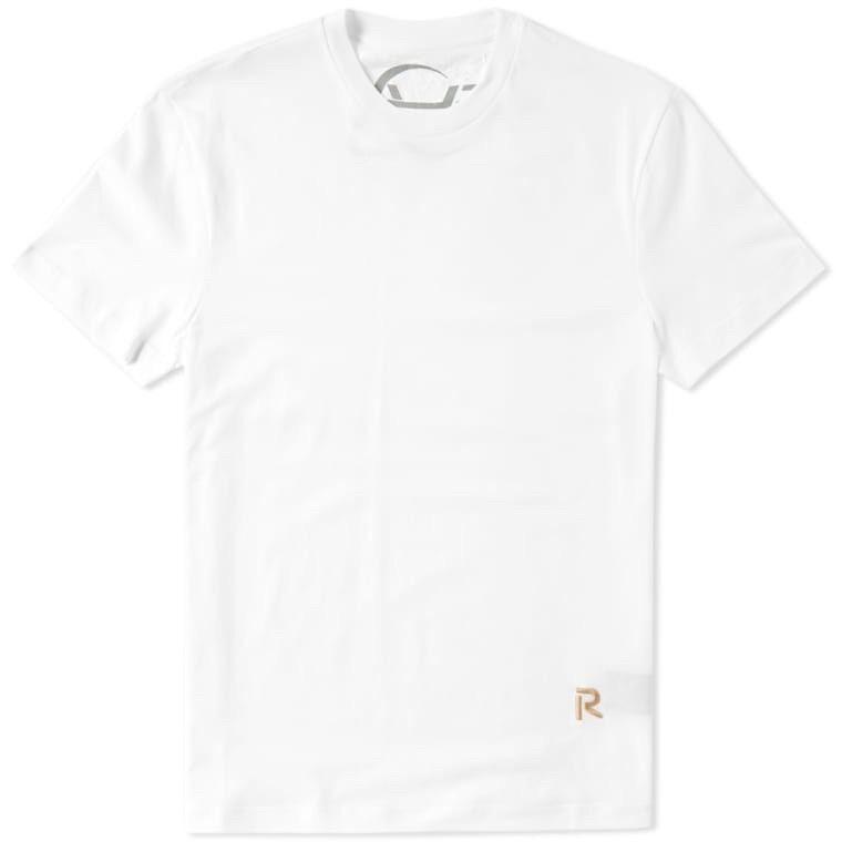 Raf Simons Stitched R Logo Tee - L - white - T-Shirt - Retail 230 EUR