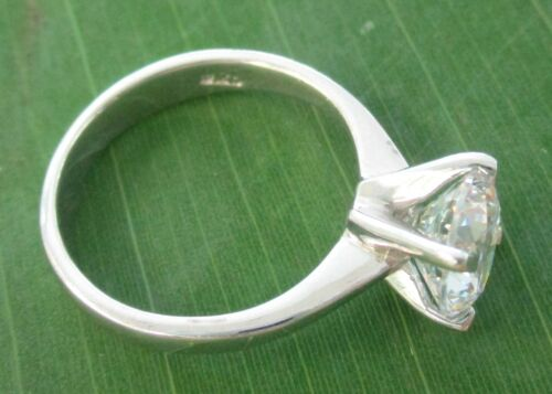 GIRL WOMEN Real 925 sterling silver 8mm Round White CZ Ring BIG size 5 to 13