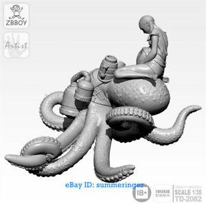 1-35-Scale-Octopus-bride-Figure-Resin-Model-Kits-Unpainted-YUFAN-Model