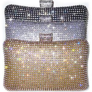 Così tanti R Libro  Pochette CERIMONIA CRISTALLI oro argento nero dorata borsa elegante a mano  D0394 | eBay
