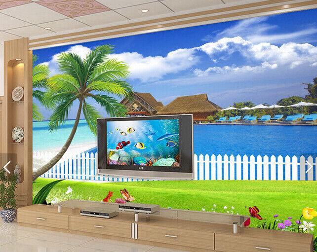 3D Bule Ocean 4015 WandPapier Murals Wand Drucken WandPapier Mural AJ Wand UK Carly