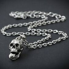 GUNTWO Korean Mens Necklaces - Biker Hip Hop Metal Skull Necklace N2205 US