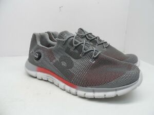 36f38e79d94 Reebok Men s ZPump Fusion PU Running Shoes Gray Red White Size 12M ...