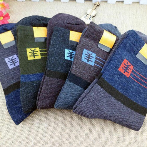 100/% Soft Winter Warm Men Thick Thermal Wool Cashmere Casual Sport Socks