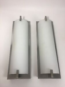 Details About 2 Of Art Deco Xenon Wall Lights Sconces Architectural Salvage