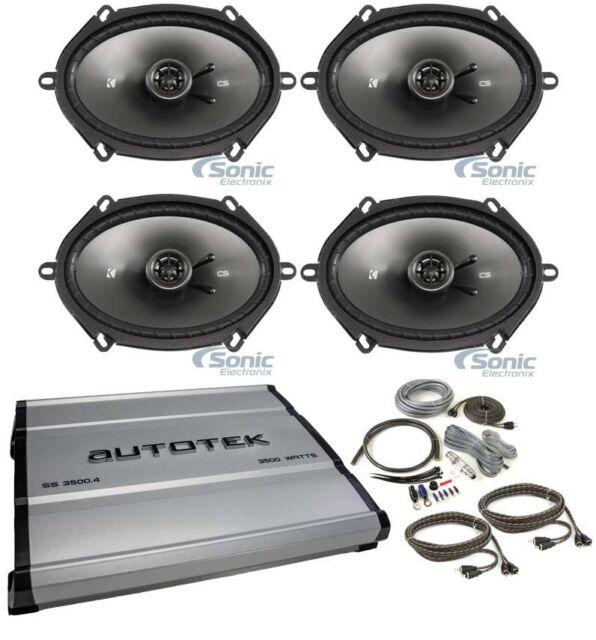 Buy 4 Kicker 43csc684 Cs68 6x8 450w Car Audio Speakers 4 Channel
