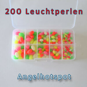 200-Leuchtperlen-in-der-Box-MEGA-SET-Starter-Pack-Sortiment-Angelhotspot