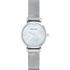 NEW Emporio Armani - AR1955 - Ladies Stainless Steel Mesh- Silver Watch WARRANTY