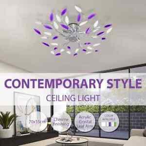 vidaXL Crystal Ceiling Lamp Pendant Light Fixture Transparent/Purple/Green E14