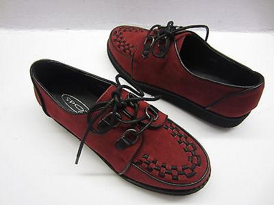 Spot On f9568 Damas Rojo Zapatos Con Cordones uk4-7 (R6A)