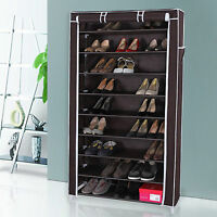 Shoe Rack Cabinet With Cover Closet Organizer Storage Bench 9 Shelves Tower