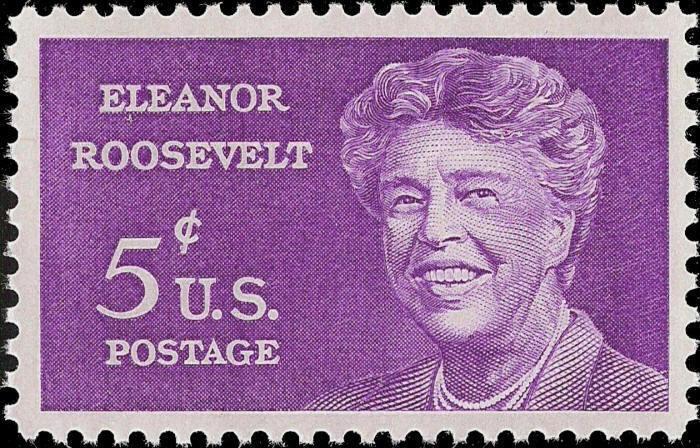 1963 5c Anna Eleanor Roosevelt, First Lady Scott 1236 M