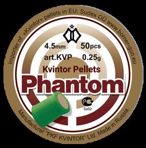 "Kvintor PELLET /""Phantom/"" 4,5 mm 0,25g Qtà 50 GRATIS P/&P"