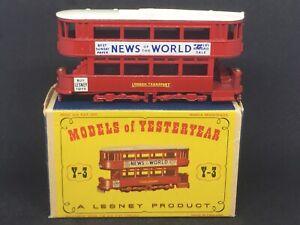 MIMB-Matchbox-Yesteryear-Y3-A15-1907-London-E-Class-Tramcar-w-Type-D1-Box